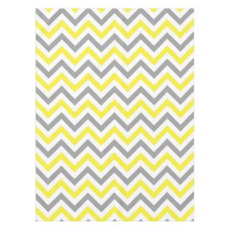 Gelb, graues weißes großes Zickzack Tischdecke