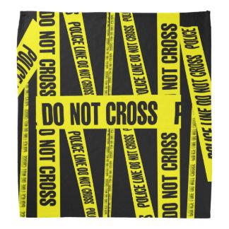 Gelb kreuzen nicht Tatort-Band-Gefahrenzonen Kopftuch