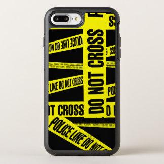 Gelb kreuzen nicht Tatort-Band-Gefahrenzonen OtterBox Symmetry iPhone 8 Plus/7 Plus Hülle