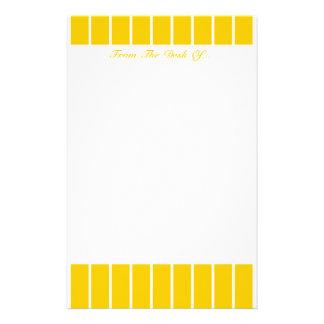 Gelb + Kundenspezifische FarbButton-Streifen Briefpapier
