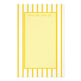 Gelb + Kundenspezifische Farbenge-Streifen Briefpapier