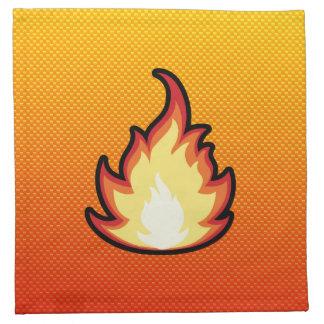 Gelb-orangee Feuer-Flamme Stoff Servietten