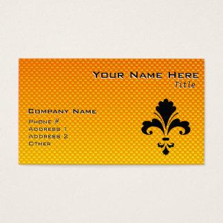 Gelb-orangee Lilie Visitenkarte