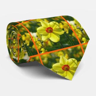 Gelb-orangee Narzissen 02.2o Krawatte