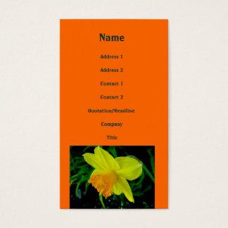Gelb-orangee Narzissen-Visitenkarte Visitenkarte