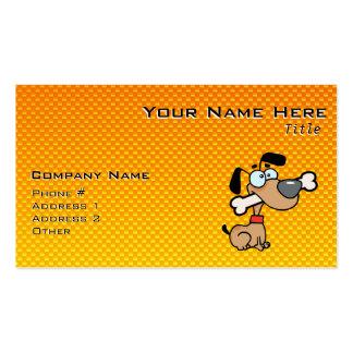 Gelb-orangeer Cartoon-Hund Visitenkarten
