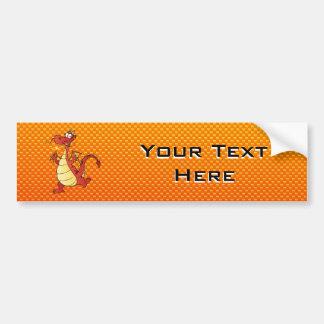 Gelb-orangeer Drache Autoaufkleber