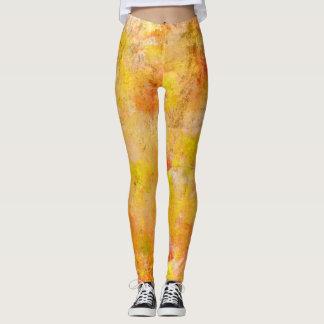 Gelb-orangeer Farben-Spritzer Leggings