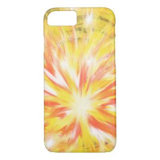 Gelb-orangeer Flammen-Feuer-Stern-abstrakter iPhone 8/7 Hülle