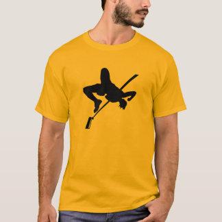 Gelb-orangeer Hochsprung T-Shirt