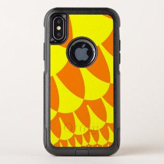 Gelb-orangeer Skalen iPhone X Fall OtterBox Commuter iPhone X Hülle