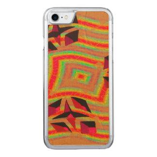 Gelb-orangees abstraktes des Mod Carved iPhone 8/7 Hülle