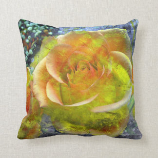"""gelb-orangees Rosethrow-Kissen 20"""" x 20"""" Zierkissen"""