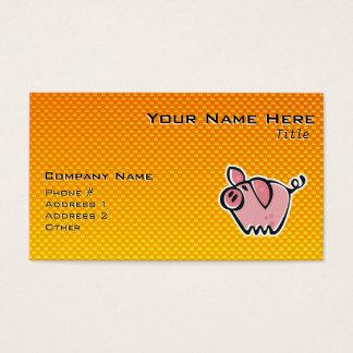 Gelb-orangees Schwein Visitenkarte