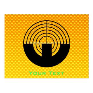 Gelb-orangees Sport-Schießen Postkarte