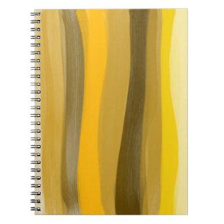 Gelb schattiert Notizbuch Spiral Notizblock