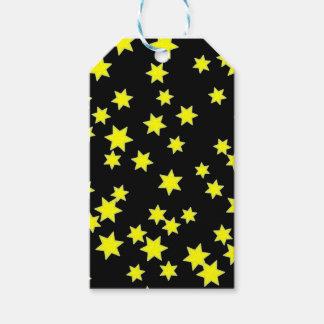 Gelb-Sterne Geschenkanhänger