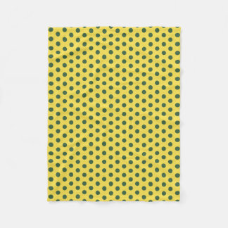 Gelb-und Jäger-Grün-Polka-Punkt-Fleece-Decke Fleecedecke