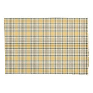 Gelb-und Marine-Blau-kariertes Muster Kissenbezug