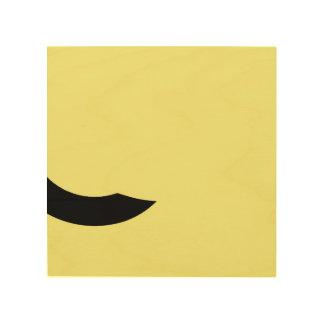 Gelb und Schwarzes Holzleinwand