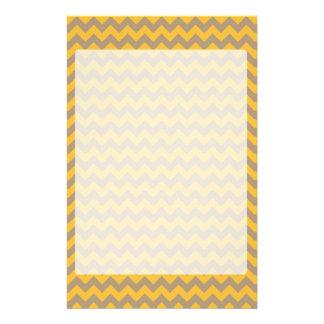 Gelb und Zickzack Muster TANs Individuelles Büropapier