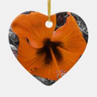 Gelb wiled Hibiskus Weihnachtsornament