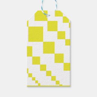Gelbe absteigende Diamanten Geschenkanhänger