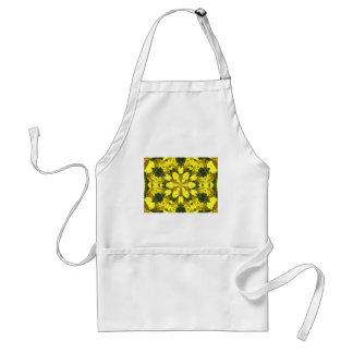 gelbe abstrakte Entwurfsmit blumengänseblümchen Schürze