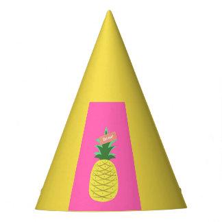 Gelbe Ananas Partyhütchen