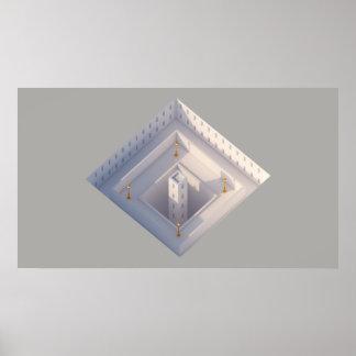 Gelbe Architektur der Laternen-02 Poster
