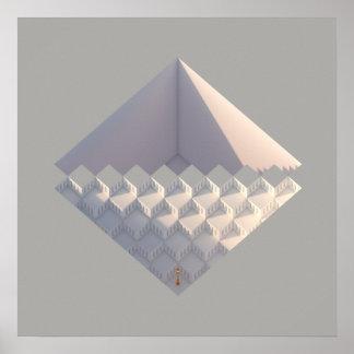 Gelbe Architektur der Laternen-03 Poster