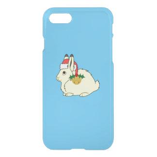 Gelbe arktische Hasen mit Weihnachtsmannmütze u. iPhone 8/7 Hülle
