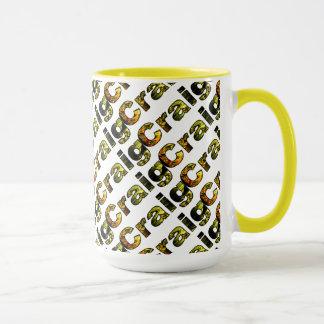 Gelbe Art Craig 15 Unze-Wecker-Tasse Tasse