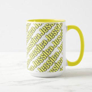 Gelbe Art-Tasse Jessicas Tasse