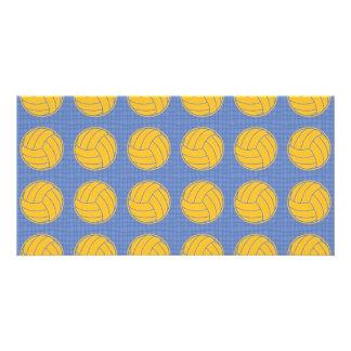 Gelbe Bälle auf blauem Hintergrund Bilderkarten