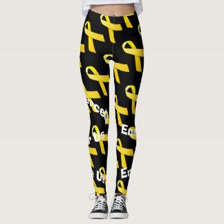 gelbe Bandgamaschen Leggings