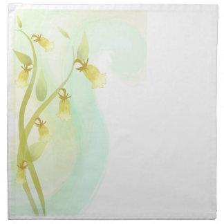 Gelbe Bell-Aquarell-Wäsche Serviette
