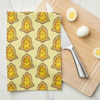 Gelbe Bell besprüht Küchentuch