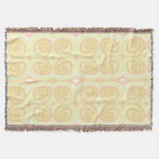 Gelbe blasse orange Wirbelthrow-Decken Decke