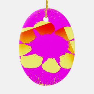 gelbe Blume Keramik Ornament