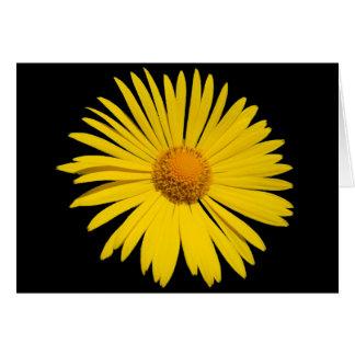 Gelbe Blume Notecard Karte