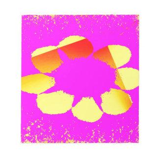 gelbe Blume Notizblock