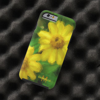 Gelbe Blume: Personalisiert: iPhone 6 Fall Tough iPhone 6 Hülle