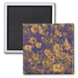 Gelbe Blume Quadratischer Magnet