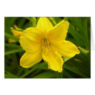 Gelbe Blumen-Anmerkungs-Karte Karte