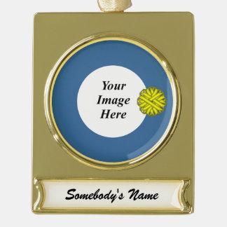Gelbe Blumen-Band-Schablone Banner-Ornament Gold