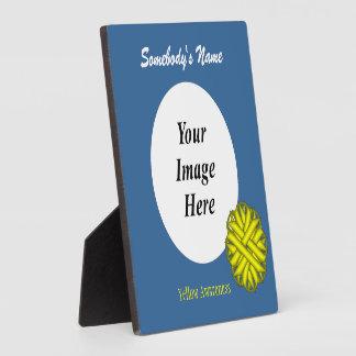 Gelbe Blumen-Band-Schablone Fotoplatte