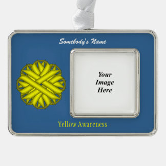 Gelbe Blumen-Band-Schablone (H-O) Rahmen-Ornament Silber