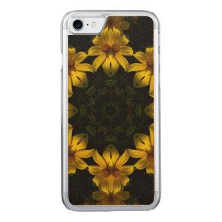 Gelbe Blumen Carved iPhone 8/7 Hülle