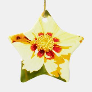 Gelbe Blumen Keramik Ornament